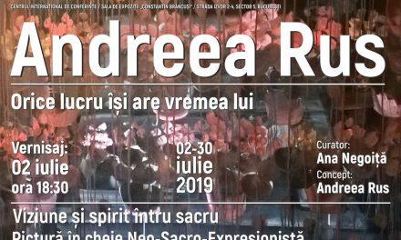 """Expoziție Andreea Rus, """"Orice lucru îşi are vremea lui"""" @ Palatul Parlamentului, Sala de expoziţii """"Constantin Brâncuşi"""""""