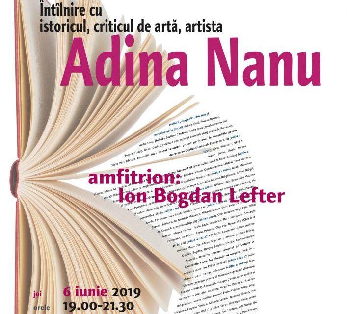 Adina Nanu la Cafeneaua critică!