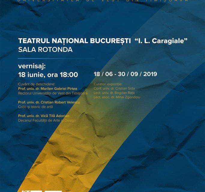"""Expoziția """"Reflecții vizuale"""" a cadrelor didactice de la Facultatea de Arte și Design din cadrul Universității de Vest din Timișoara @ Sala Rotondă a Teatrului Național din București"""