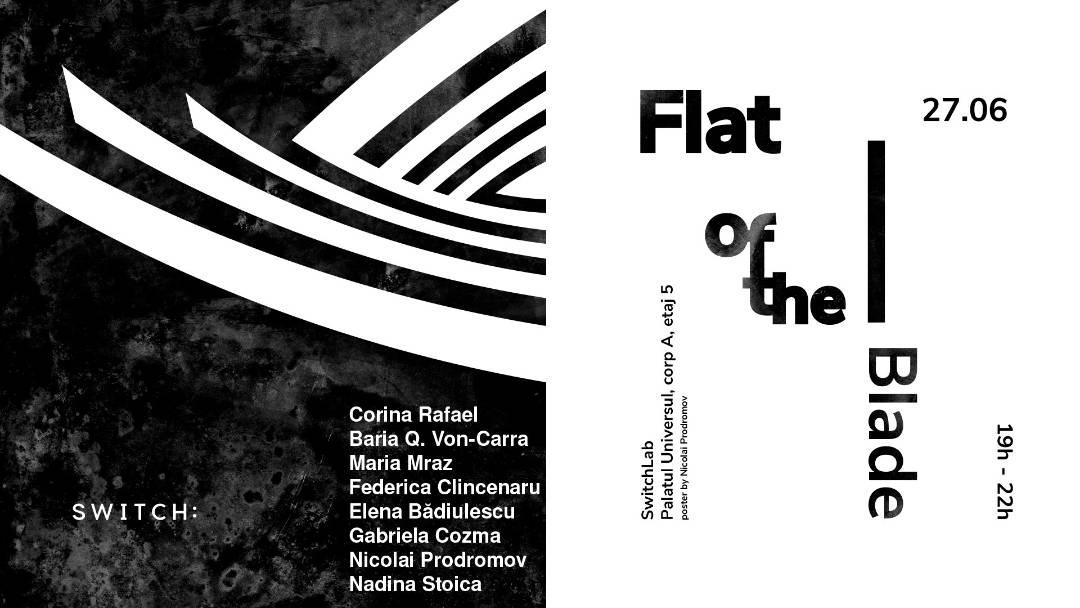 """Expoziție absolvenți ai departamentului Fotografie și Imagine Dinamică de la Universitatea Națională de Arte București """"Flat of the Blade"""" @ SwitchLab, București"""