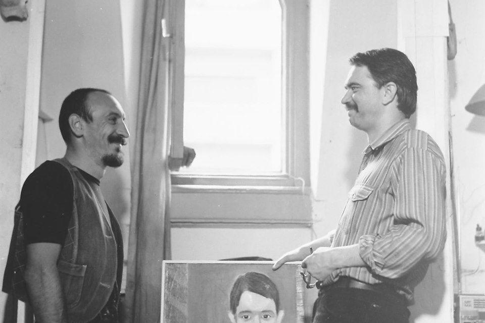 Graficienii Nicolae Alexi şi Aurel Bulacu