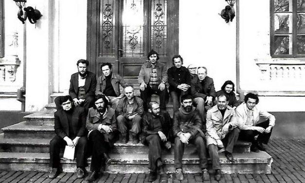 Grupul 9+1: B. Marianov, D. Covrig, F. Ciubotaru, M. Gherasim, Gh. Berindei, Horea Mihai, C. Paraschiv, A. Plesu, S. Dumitrescu, N. Tiron, P. Vasilescu, M. Buculei, V. Gorduz, H. Bernea
