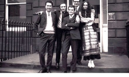 Ion Bitzan, Richard Demarco, Paul Neagu, Peter Jacobi, Ritzi Jacobi in Edinburgh, 1969