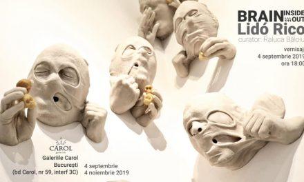 """Expoziție Lidó Rico """"Brain inside(out)"""" la Galeriile Carol, București"""
