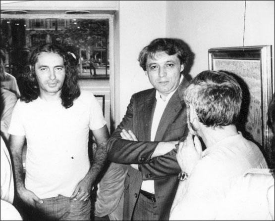 Mihai Olos şi Nicolae Breban în 1981