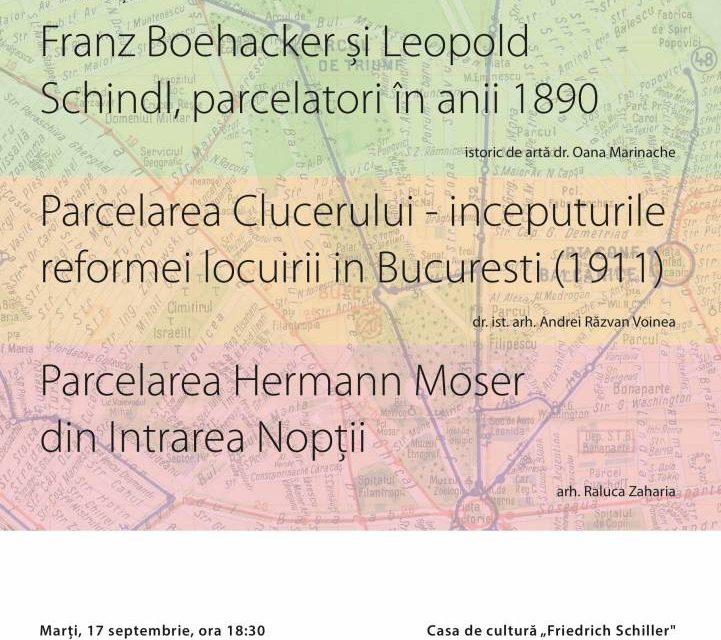 """Conferință """"Parcelări publice și private"""" @ Casa de cultură """"Friedrich Schiller"""", București"""