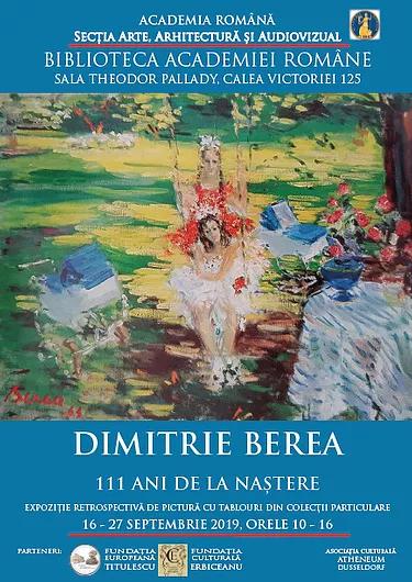 """Expoziţie """"Dimitrie Berea – 111 ani de la naștere"""" @ Biblioteca Academiei Române"""
