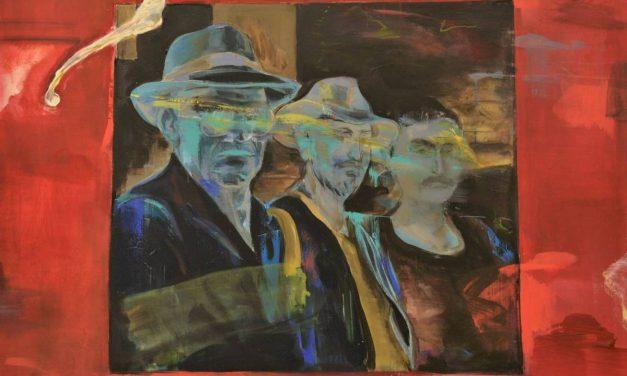 """""""Tatăl și fiii"""" . Expun: Miklos Kőmives, Andor Kőmives, Nicolae Kőmives @ MNLR"""