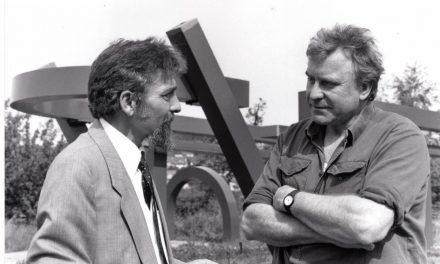 Cornel Radu Constantinescu în atelierul lui Peter Jacobi, 1990
