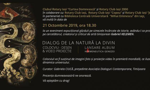 """Expoziție Gabriel Kelemen """"Dialog de la natură la divin"""" și lansare de carte """"Hermeneutica Genezei"""" @ Biblioteca Centrală Universitară""""Mihai Eminescu"""" din Iaşi"""