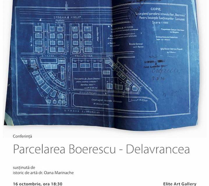 """O nouă conferință din cadrul proiectului """"Parcelări publice și private (1890-1940)"""": Parcelarea Boerescu-Delavrancea @ Elite Art Gallery, București"""