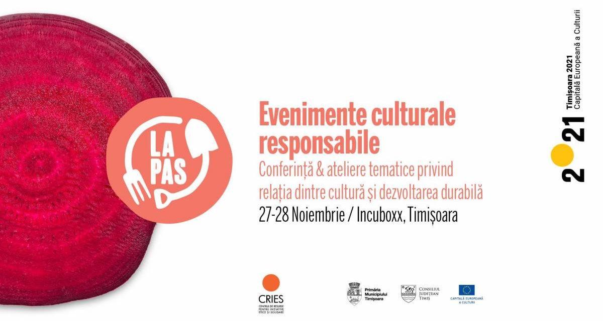 Conferința Evenimente culturale responsabile: cum să organizezi proiecte creative cu grijă față de oameni și mediu