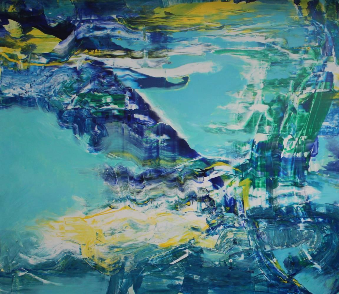 River as Connector, 160 x 140 cm, acrylic on canvas,  2018
