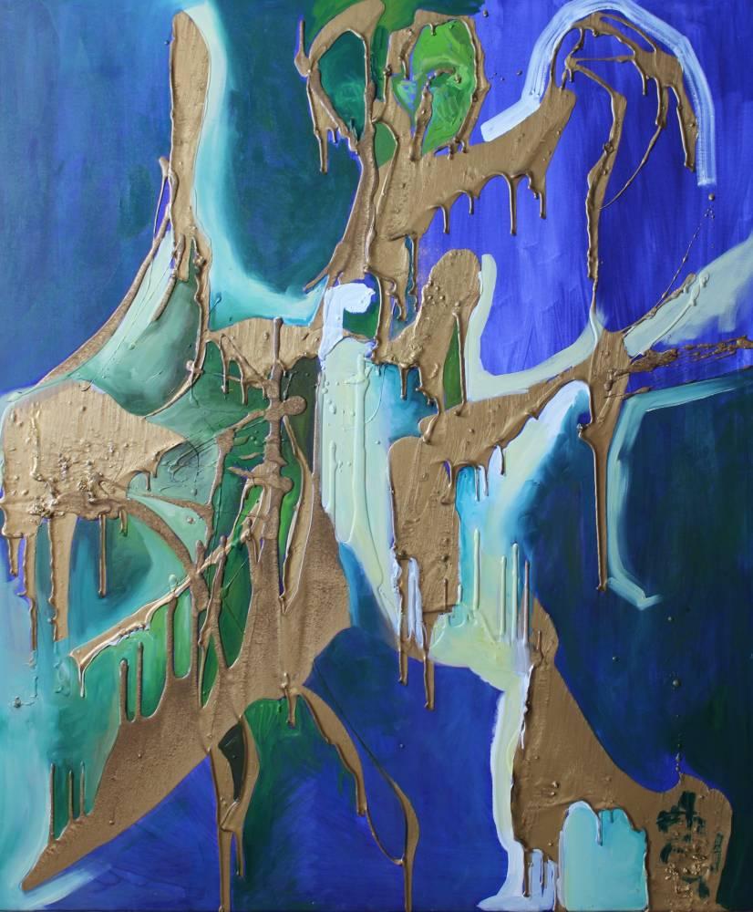 Stories of Ada-Kaleh, 100 x 70 cm, ulei și ceară pe pânză, 2018
