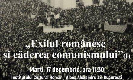 """Dezbaterea """"Exilul românesc și căderea comunismului (I)"""" @ Institutul Cultural Român"""