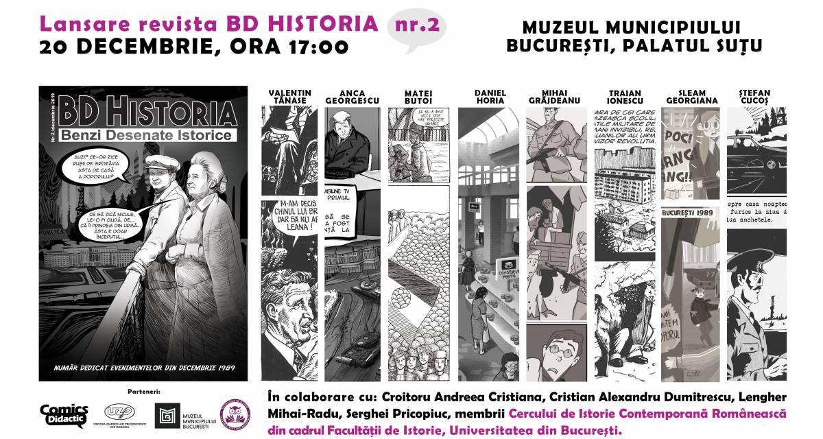 """Revista """"BD Historia, benzi desenate istorice"""" dedică un număr evenimentelor din Decembrie 1989"""