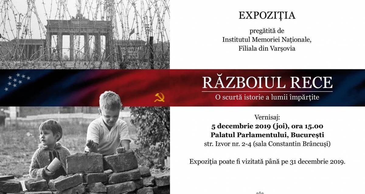 """Expoziția """"Războiul Rece. O scurtă istorie a lumii împărțite"""" la Palatul Parlamentului din București, sala Constantin Brâncuși"""