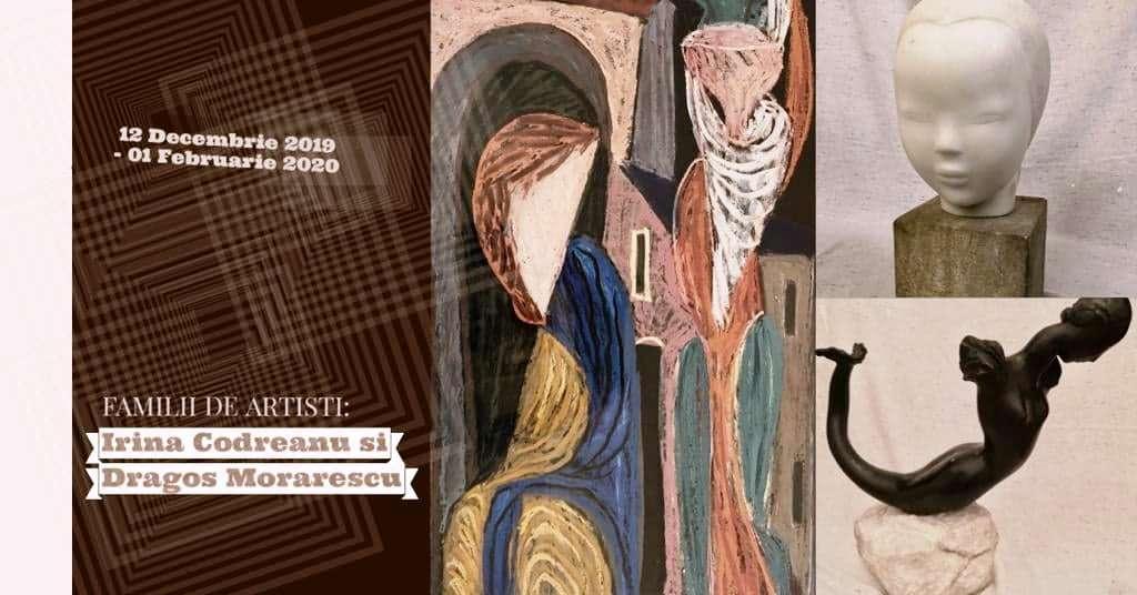 """Expoziție """"Familii de artişti: Irina Codreanu şi Dragoş Morărescu"""" @ Galeria Romană, București"""