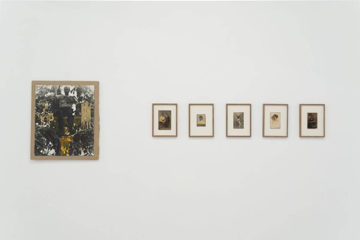 Imagine din expoziție. De la stânga la dreapta: Ion Grigorescu, Christian Paraschiv. Credit foto: infi.ro