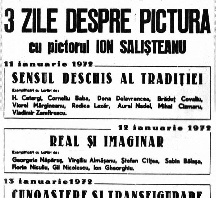 3 zile despre pictură cu Ion Sălișteanu, 1972