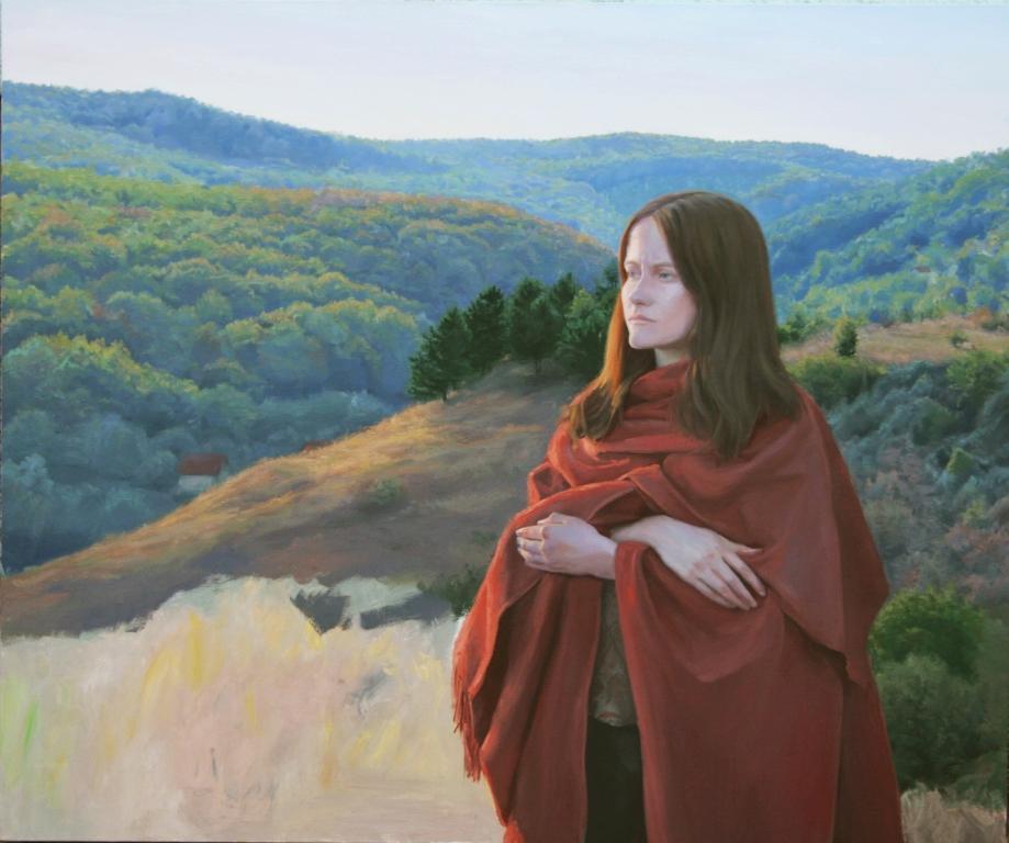 Alexandru Nicoara Karolina's Portrait, oil on linen, 2019, 100 x 120 cm