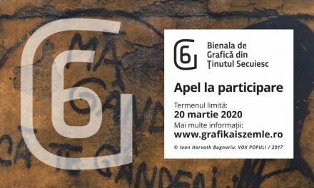 Anunțul de participare la ediția a 6-a a Bienalei de Artă Grafică din Ținutul Secuiesc este public