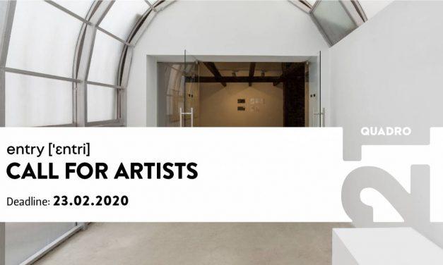 Galeria Quadro 21: entry – apel pentru artiști