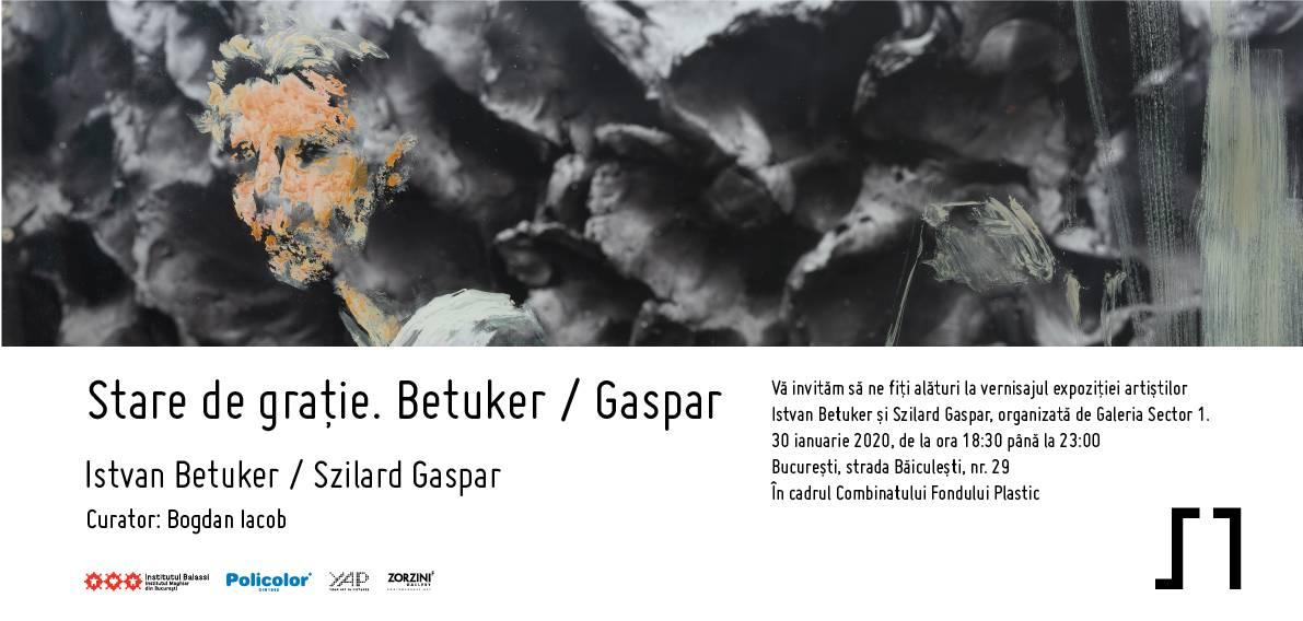 Expoziția Stare de grație. Betuker / Gaspar @ Galeria Sector 1, București