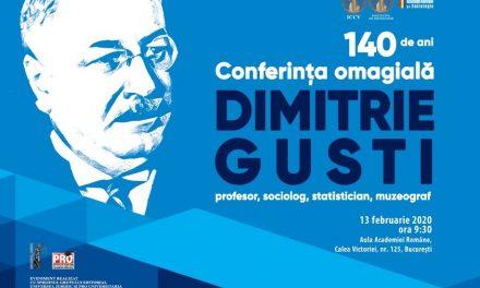 Conferința omagială Dimitrie Gusti – 140 de ani de la naștere @ Academia Română