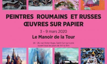 """Expoziția """"Peintres roumains et russes – oeuvres sur papier"""" @ Espace Marguerite Yourcenar – Manoir de la Tour"""