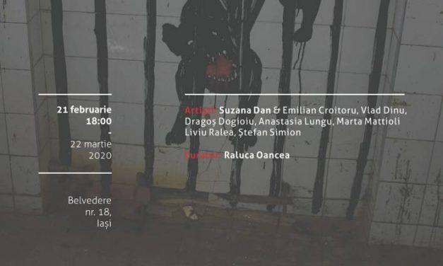 """Expoziție de grup """"Dogman"""": Suzana Dan & Emilian Croitoru, Vlad Dinu, Dragoș Dogioiu, Anastasia Lungu, Marta Mattioli, Liviu Ralea, Ștefan Simion la Borderline Art Space, Iași"""
