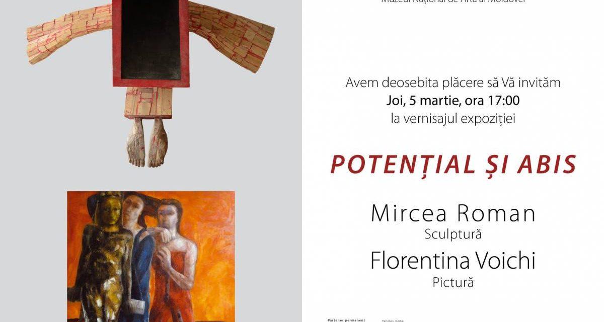 """Mircea Roman și Florentina Voichi """"Potențial și abis"""" @ Muzeul Național de Artă al Moldovei, Chișinău"""