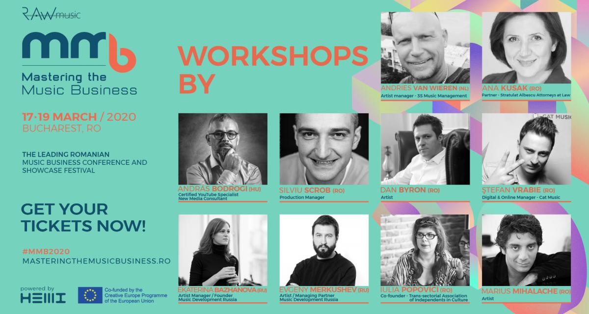 Cum să transformi talentul și muzica într-un business de succes: 10 workshopuri utile în cadrul Mastering the Music Business ediția a V-a