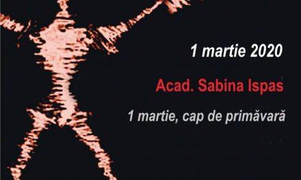 """La Conferințele TNB: 1 martie, """"cap deprimăvară"""", cu Acad. Sabina Ispas"""