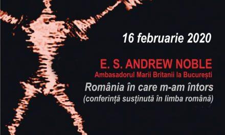 E.S. Andrew Noble, Ambasadorul Marii Britanii la București, vine la Conferințele TNB!