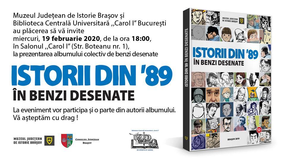 Lansare ISTORII DIN '89 ÎN BENZI DESENATE în București