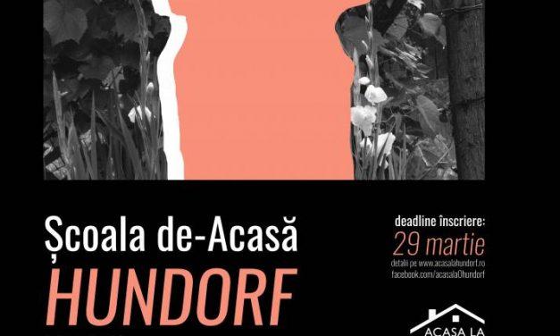 Asociaţia Acasă la Hundorf lansează în 2020 ediția a IV-a a Şcolii de-Acasă