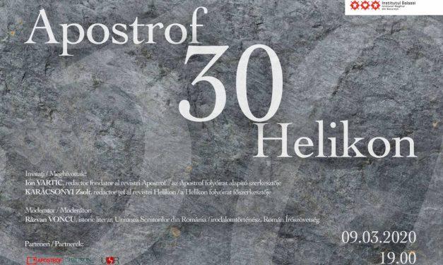 Apostrof / 30 / Helikon – 30 de ani de la fondare @ Institutul Balassi – Institutul Maghiar din Bucureşti