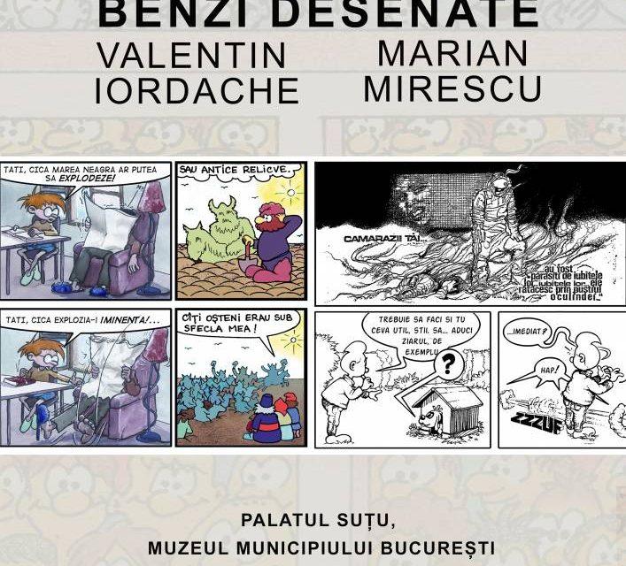 Benzi desenate de Valentin Iordache și Marian Mirescu, la Palatul Suțu