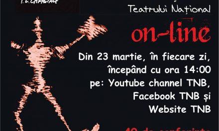 Programul difuzării Conferințelor TNB on-line (31 martie-26 aprilie 2020)