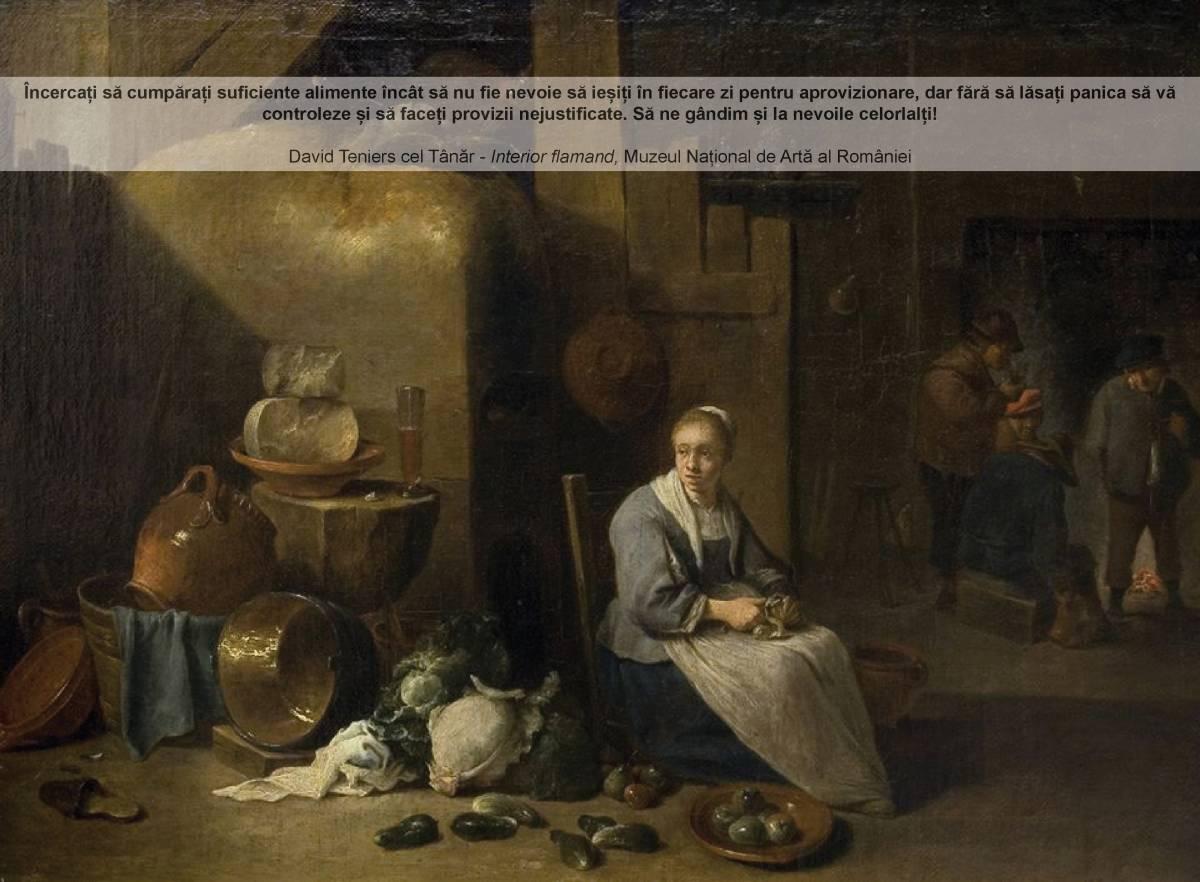 David Teniers cel tanar - interior flamand MNAR