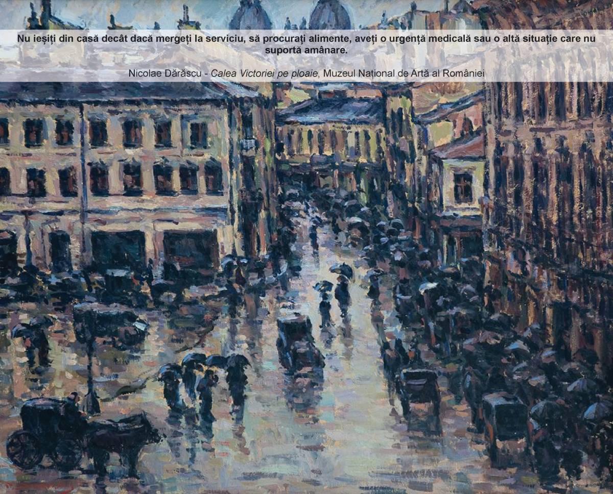 Nicolae Darascu Calea Victoriei de ploaie MNAR