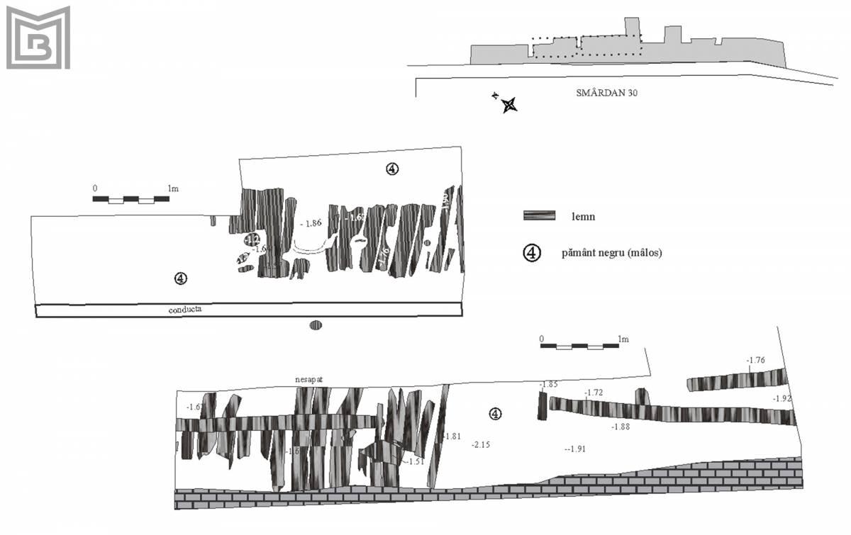 Planul străzii de lemn identificată pe strada Smârdan, nr. 30
