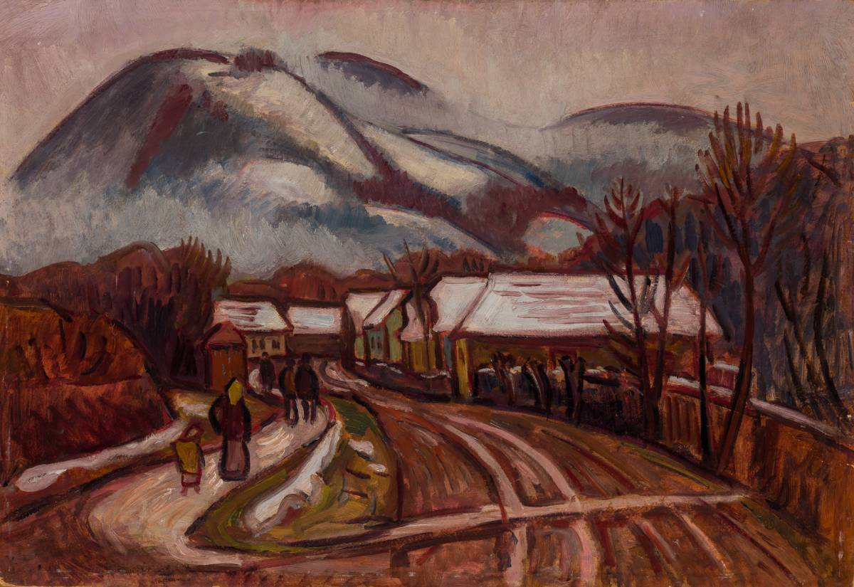 IVÁNYI GRÜNWALD Béla Peisaj băimărean cu Dealul Crucii 1910
