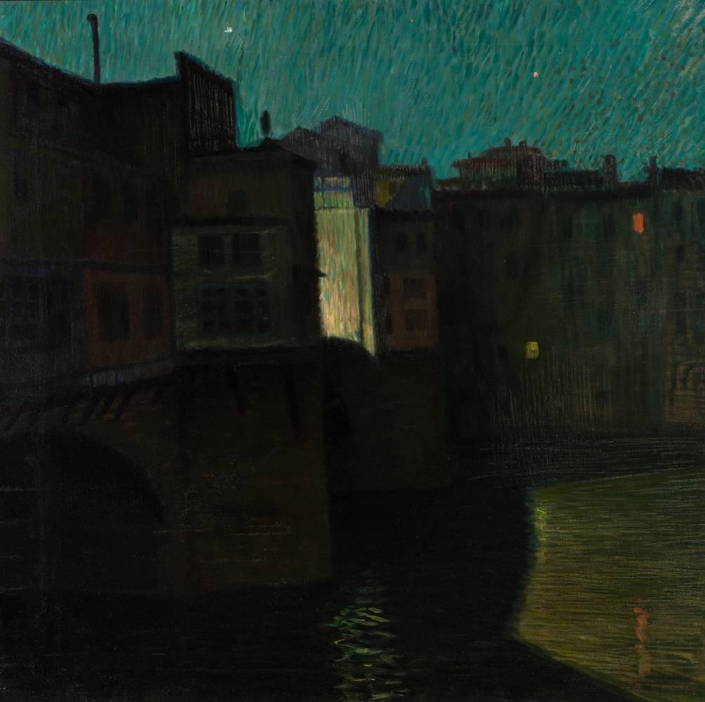 MÜLLER MERÉSZ Gyula Ponte Vecchio noaptea, 1913