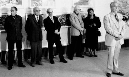 Vernisajul lui Braduț Covaliu, Sala Dalles, București, 14 sept. 1989