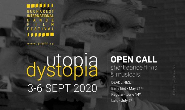Bucharest International Dance Film Festival lansează înscrierile pentru cea de-a șasea ediție (3-6 septembrie, București)