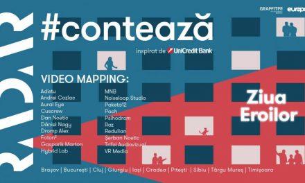 RADAR lansează ediția națională a                proiectului de video-mapping #CONTEAZĂ
