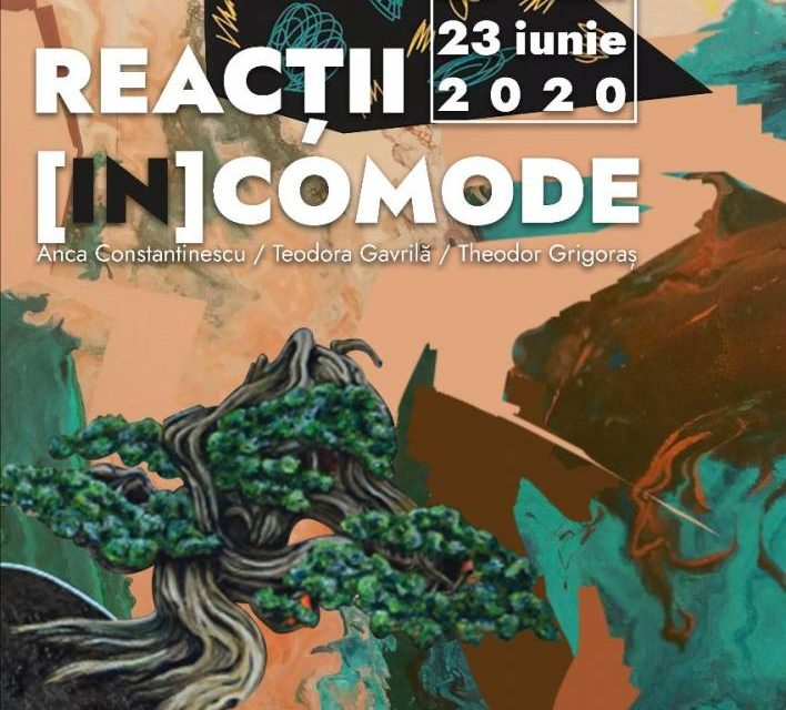 """Expoziție Anca Constantinescu, Teodora Gavrilă, Theodor Grigoraș, """"Reacții [in]comode"""" @ Elite Art Gallery, București"""