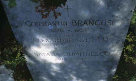 Piatra tombală Constantin Brâncuși, Alexandre Istrati, Natalia Dumitresco